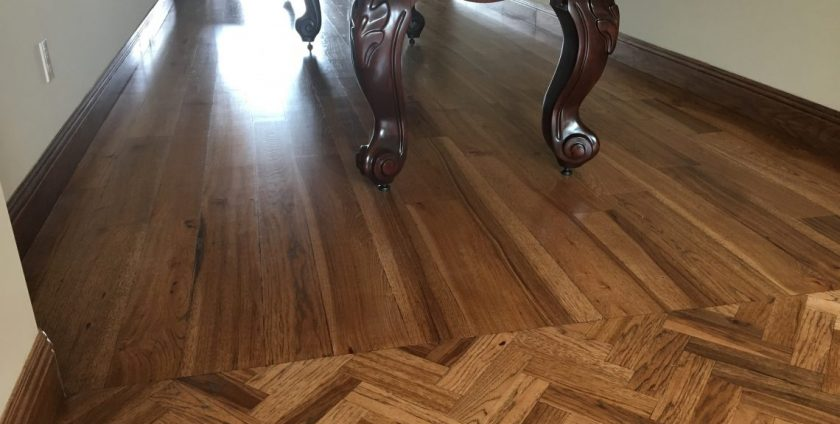 Custom Transitions And Patterns With A Solid Wood Floor