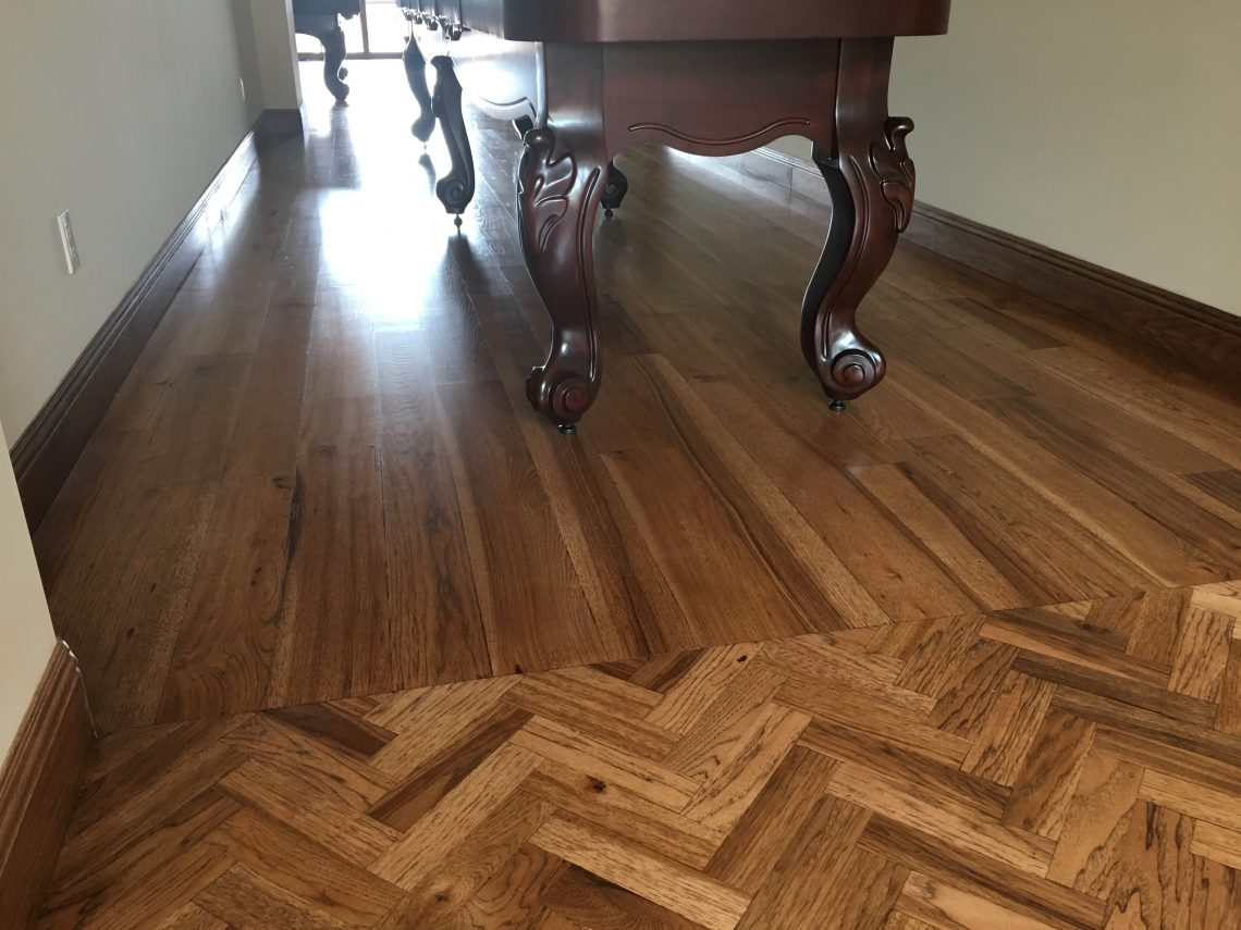 Custom Transitions And Patterns Solid Wood Floor