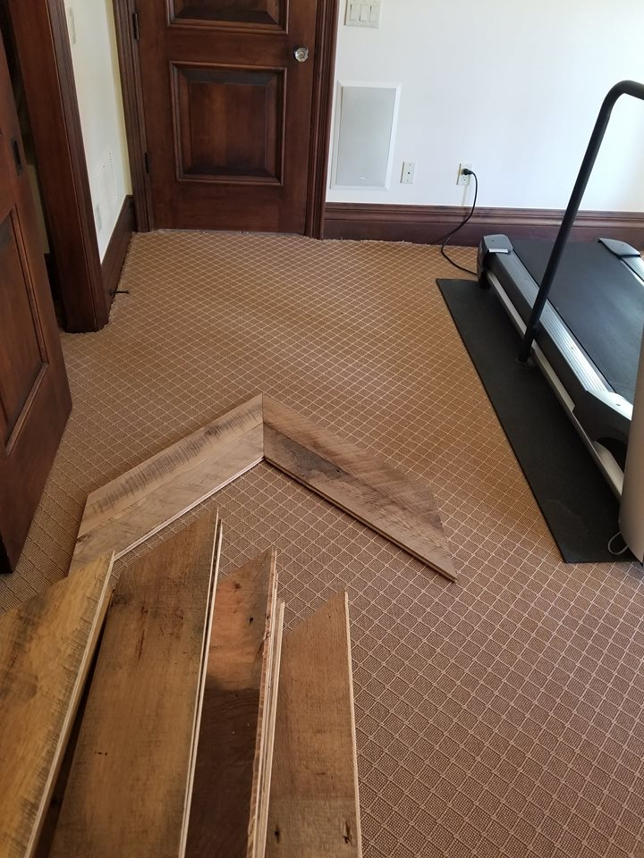 Custom Reclaimed Hardwood Floor Chevron