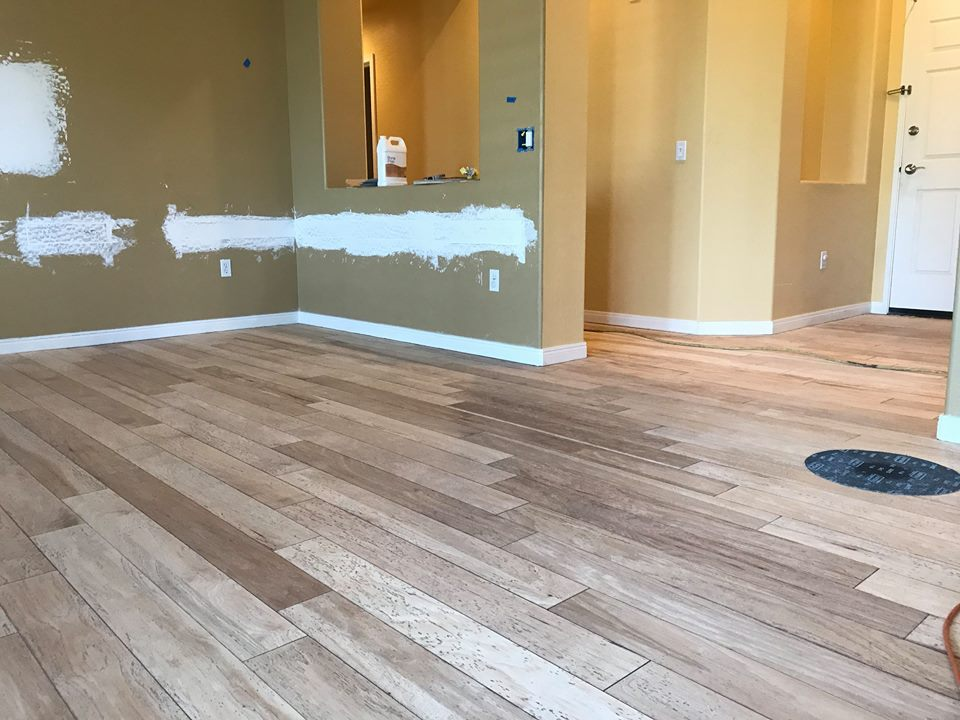 Sand, Refinish and Recolor of an Engineered Hardwood Floor
