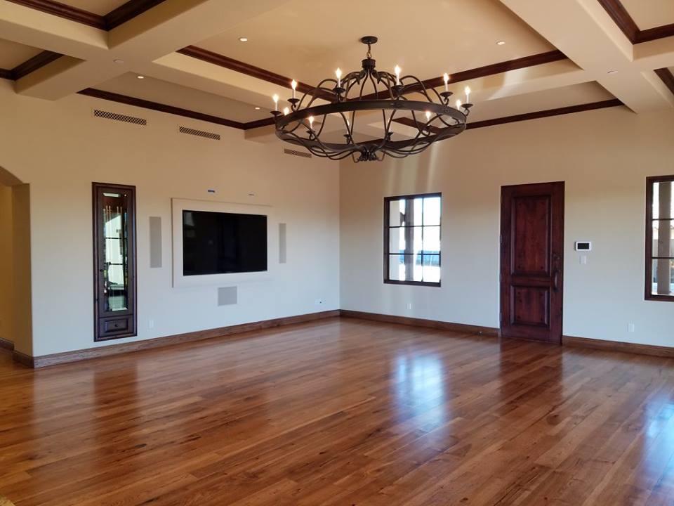 Hickory, Light Brown, Solid, Mixed Width Hardwood Floor