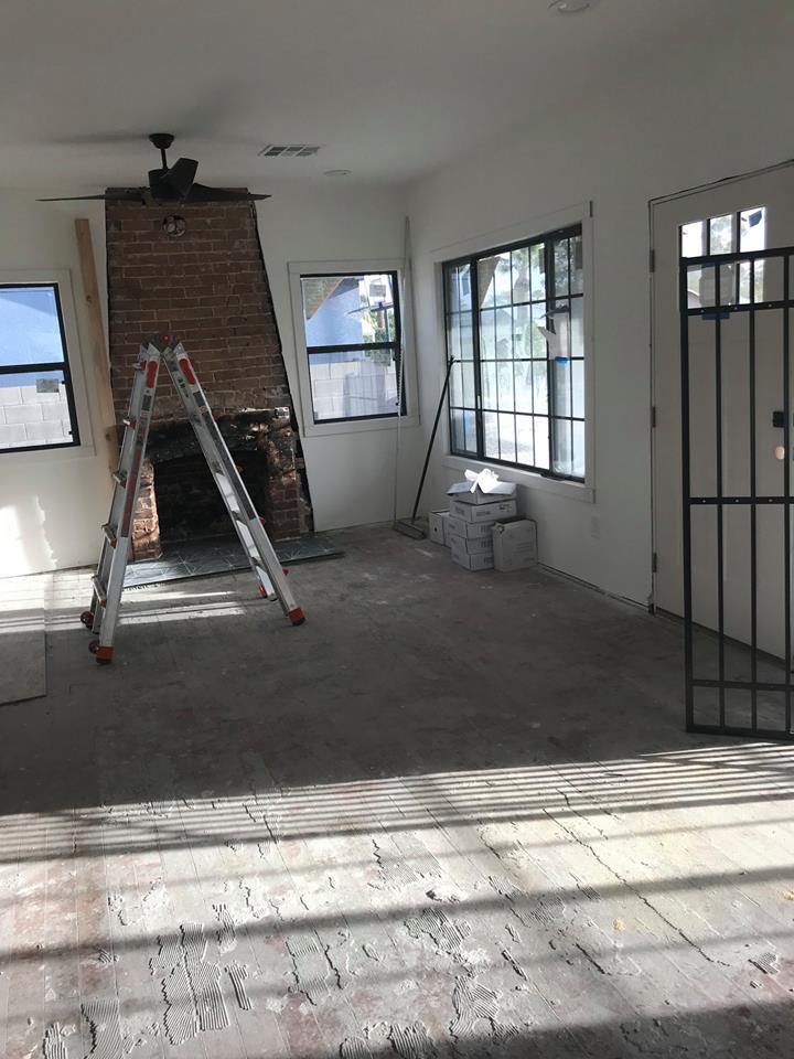 Pine Floor Refinish Project