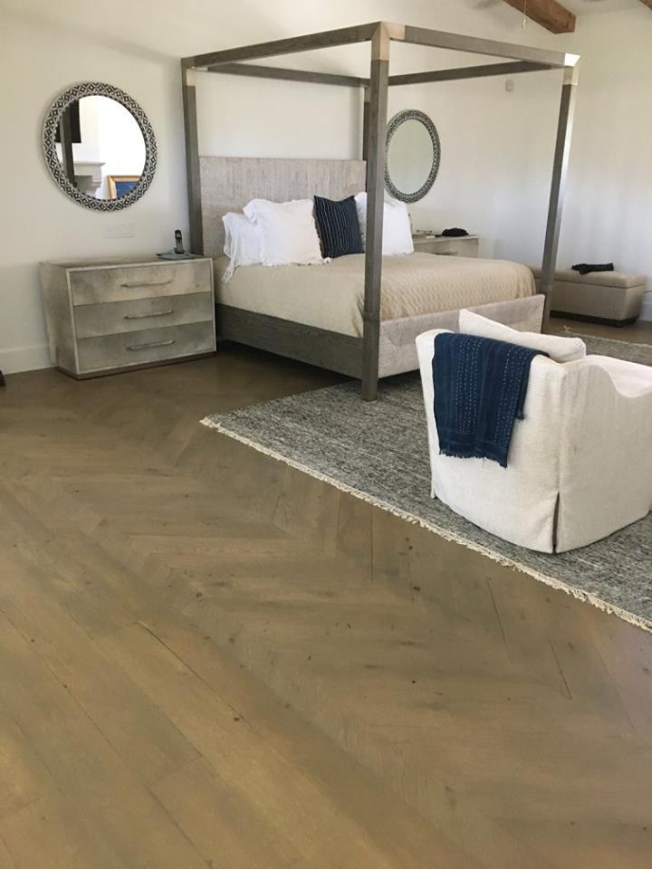 Reclaimed Hardwood Floor Install Bedroom