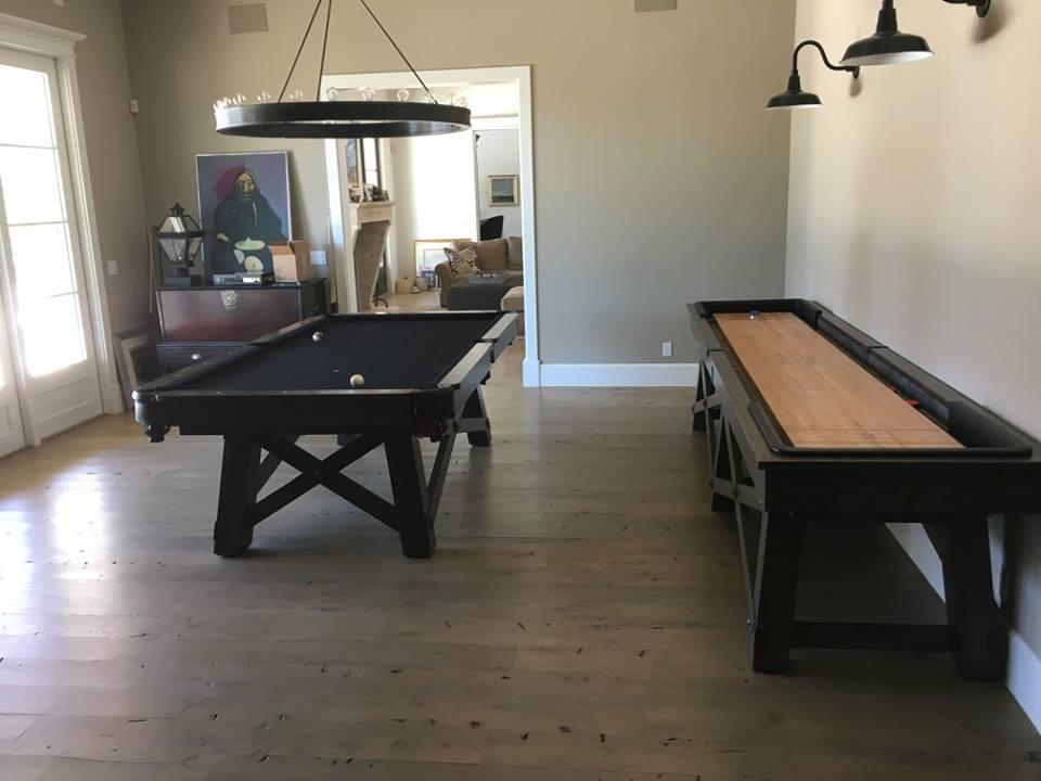 Reclaimed Hardwood Floor Install Game Room
