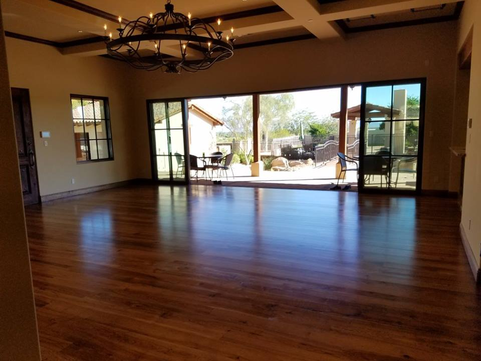 Refinished Hickory Flooring